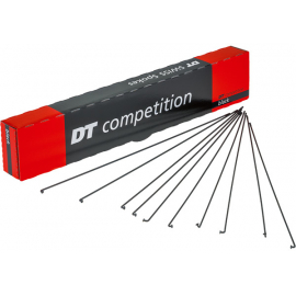 Competition black spokes 14 / 15 g = 2 / 1.8 mm box 100, 290 mm