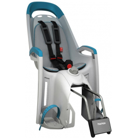 HAMAX AMAZE REAR MOUNTED CHILDSEAT: LIGHT GREY/PETROL BLUE