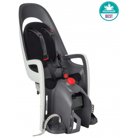 HAMAX CARESS REAR PANNIER RACK MOUNT CHILDSEAT: WHITE/BLACK