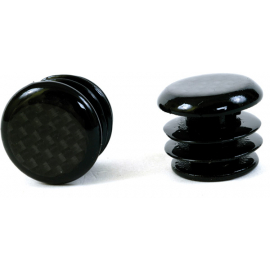 Carbon fibre look bar end plugs for Road bikes