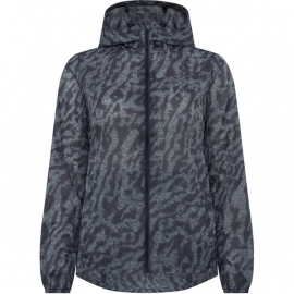 Roam women's lightweight packable jacket  camo navy haze size 16