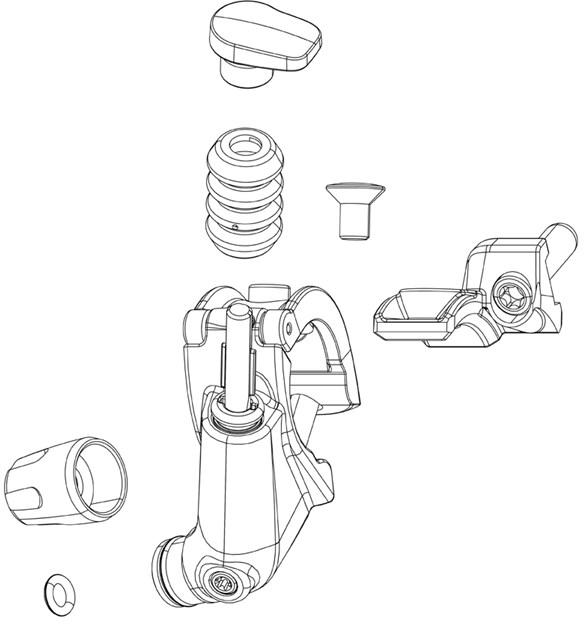 RockShox Monarch XX XLoc FullSprint Connectamajig Hydraulic Hose Barb B1