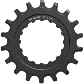 SRAM CHAIN RING X-SYNC SPROCKET FOR BOSCH MOTORS 18T STRAIGHT STEEL BLACK:18T