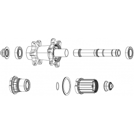 SRAM SPARE - WHEEL SPARE PARTS FREEHUB BODY PAWLS & SPRINGS RISE 60: